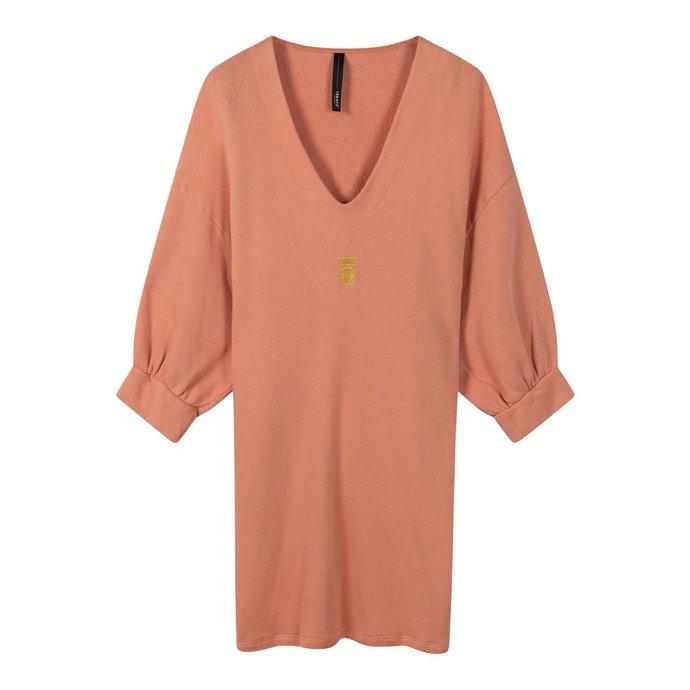 10Days Pink Terracotta v-neck tunic fleece 20-346-0203