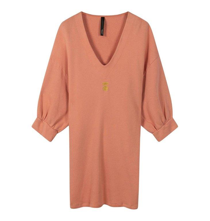 10Days 10Days Pink Terracotta v-neck tunic fleece 20-346-0203