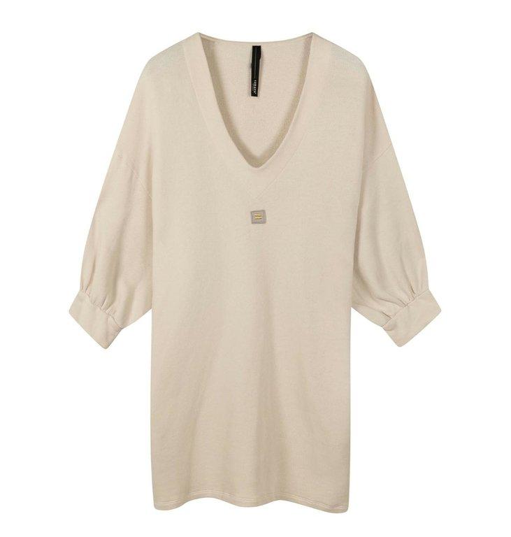 10Days 10Days Light Safari v-neck tunic fleece 20-346-0203