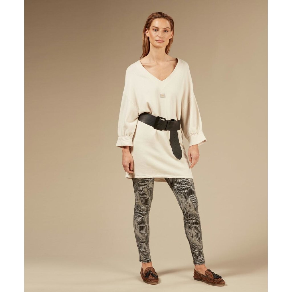 10Days Light Safari v-neck tunic fleece 20-346-0203