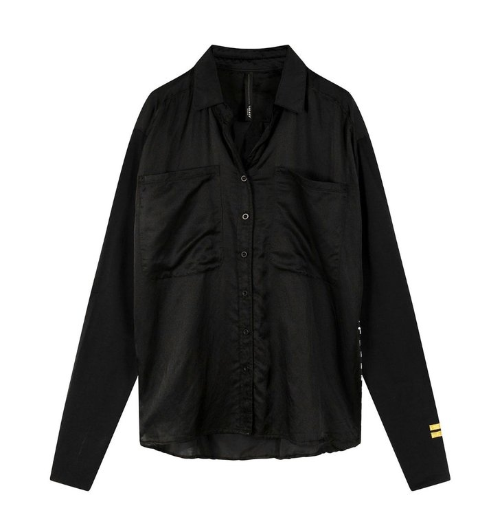 10Days 10Days Black shirt silk 20-408-0203
