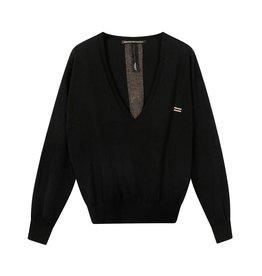 10Days 10Days Black sweater v-neck sparkle 20-609-0203