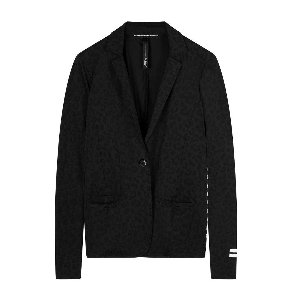 10Days Black blazer leopard 20-509-0203