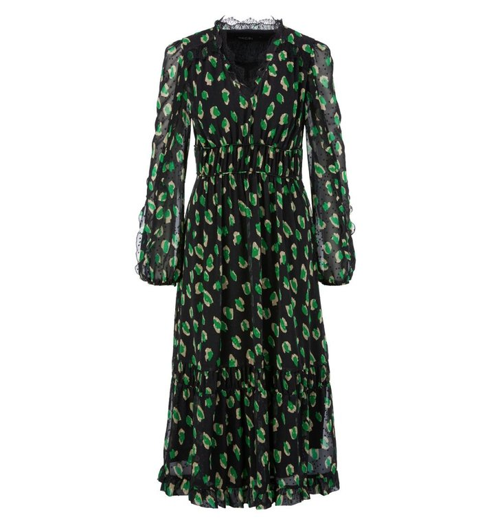 Marc Cain Marc Cain Green/Black Dress PC2123-W27