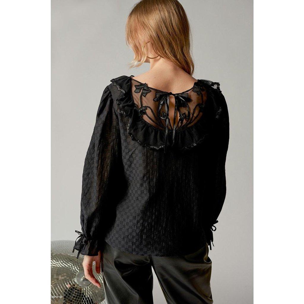 Antik Batik Black Blouse Celine1