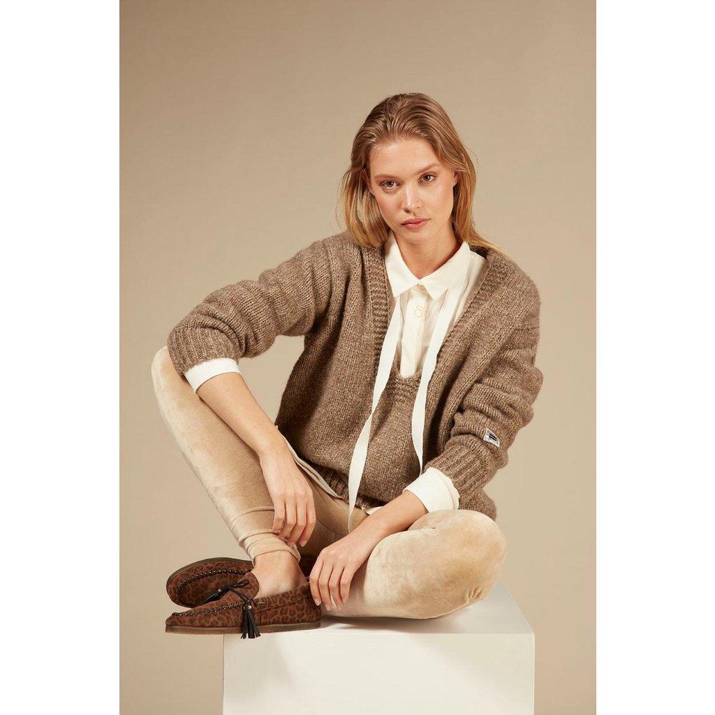 10Days Camel leggings velvet 20-025-0203