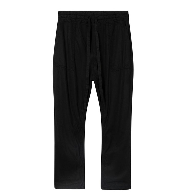 10Days 10Days Black straight pants rib 20-047-0203
