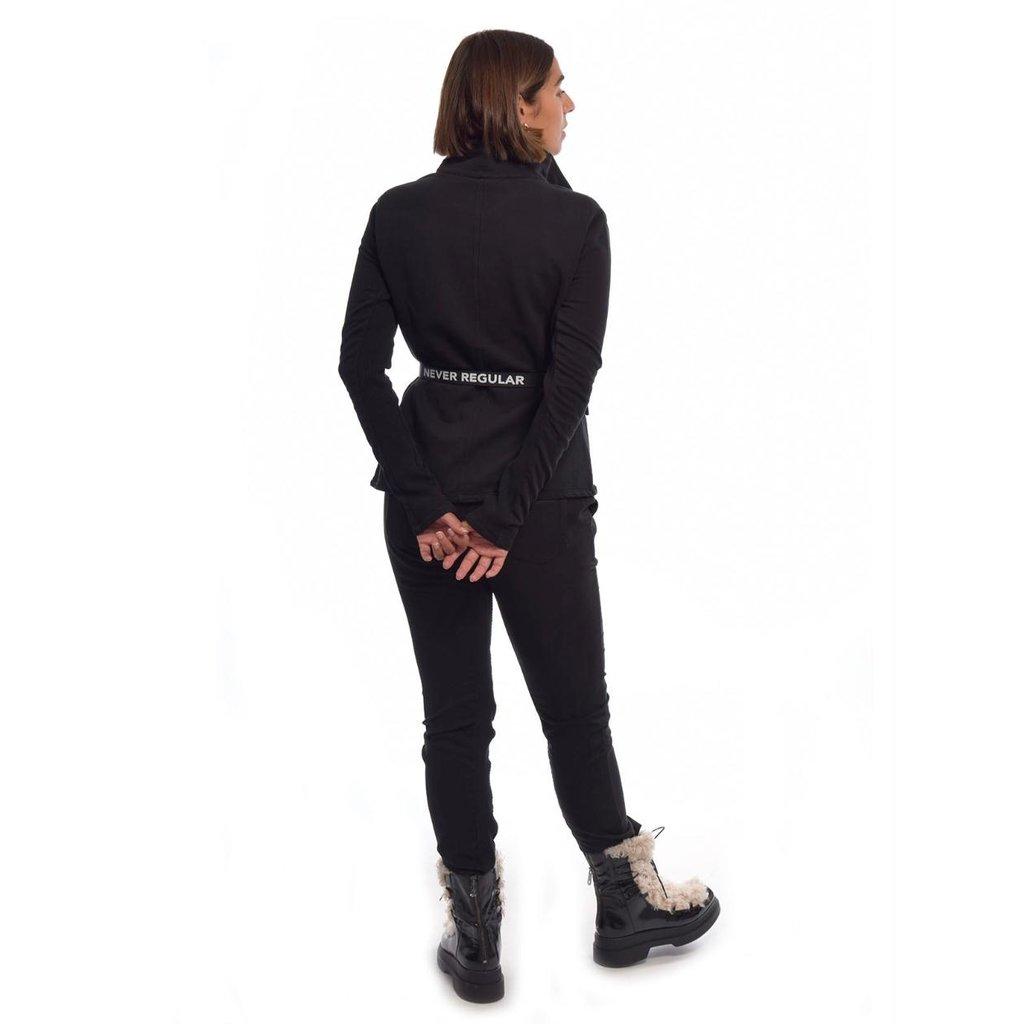 10Days Black straight pants rib 20-047-0203