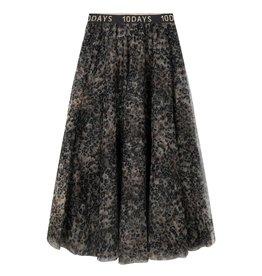 10Days 10Days Grey tulle skirt leopard 20-105-0203
