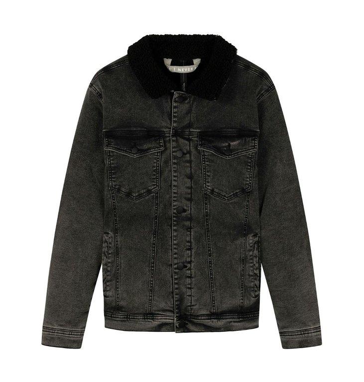 10Days 10Days Grey terry denim jacket 20-573-0203