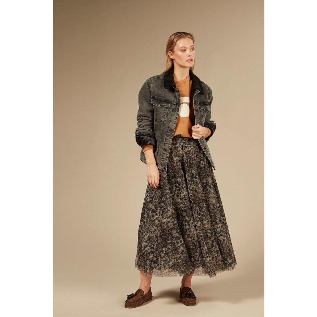 10Days Grey terry denim jacket 20-573-0203