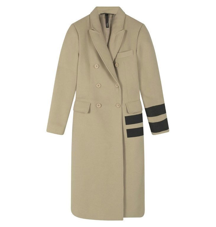 10Days 10Days Safari wool coat two stripe 20-575-0203