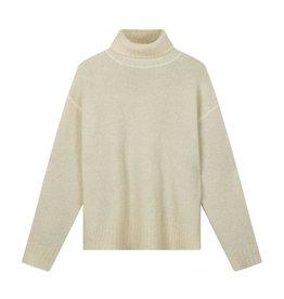 10Days 10Days Ecru/Light Grey Melee reversible coll sweater 20-603-0203