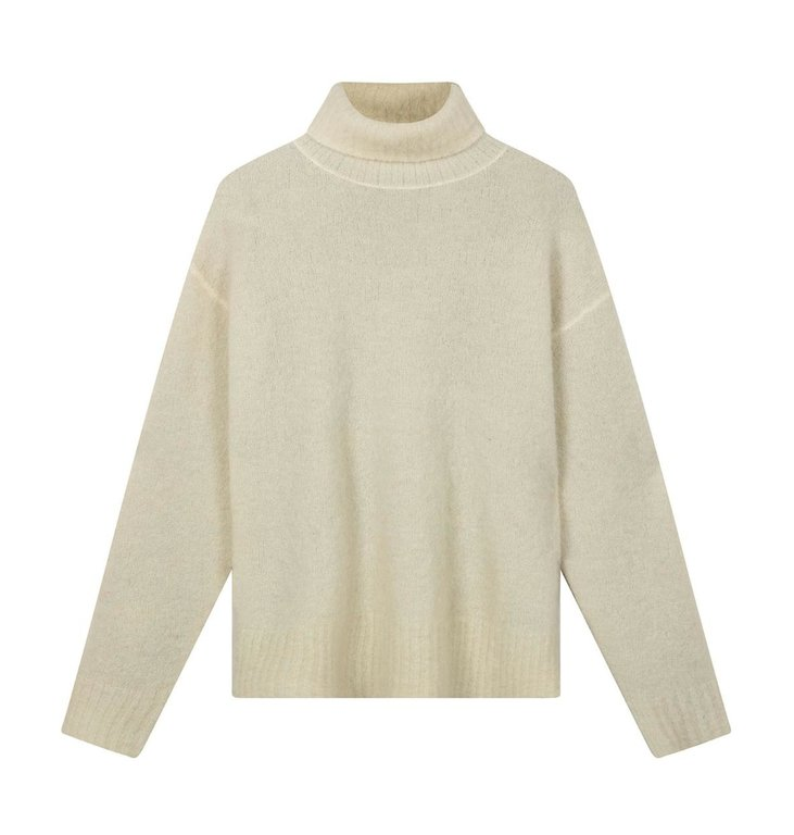 10Days 10Days Ecru/Light Grey Melee reversible coll sweater 20-603-0203