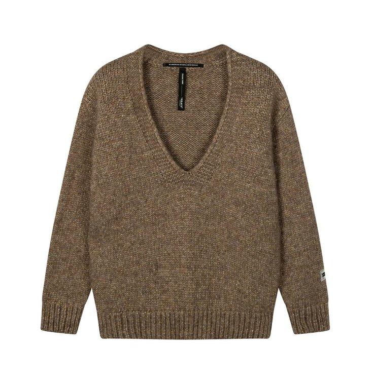10Days 10Days Gold sweater v-neck sparkling 20-618-0203