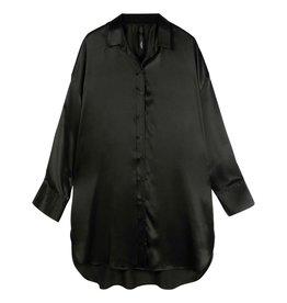 10Days 10Days Black tunic dress silk 20-405-0203
