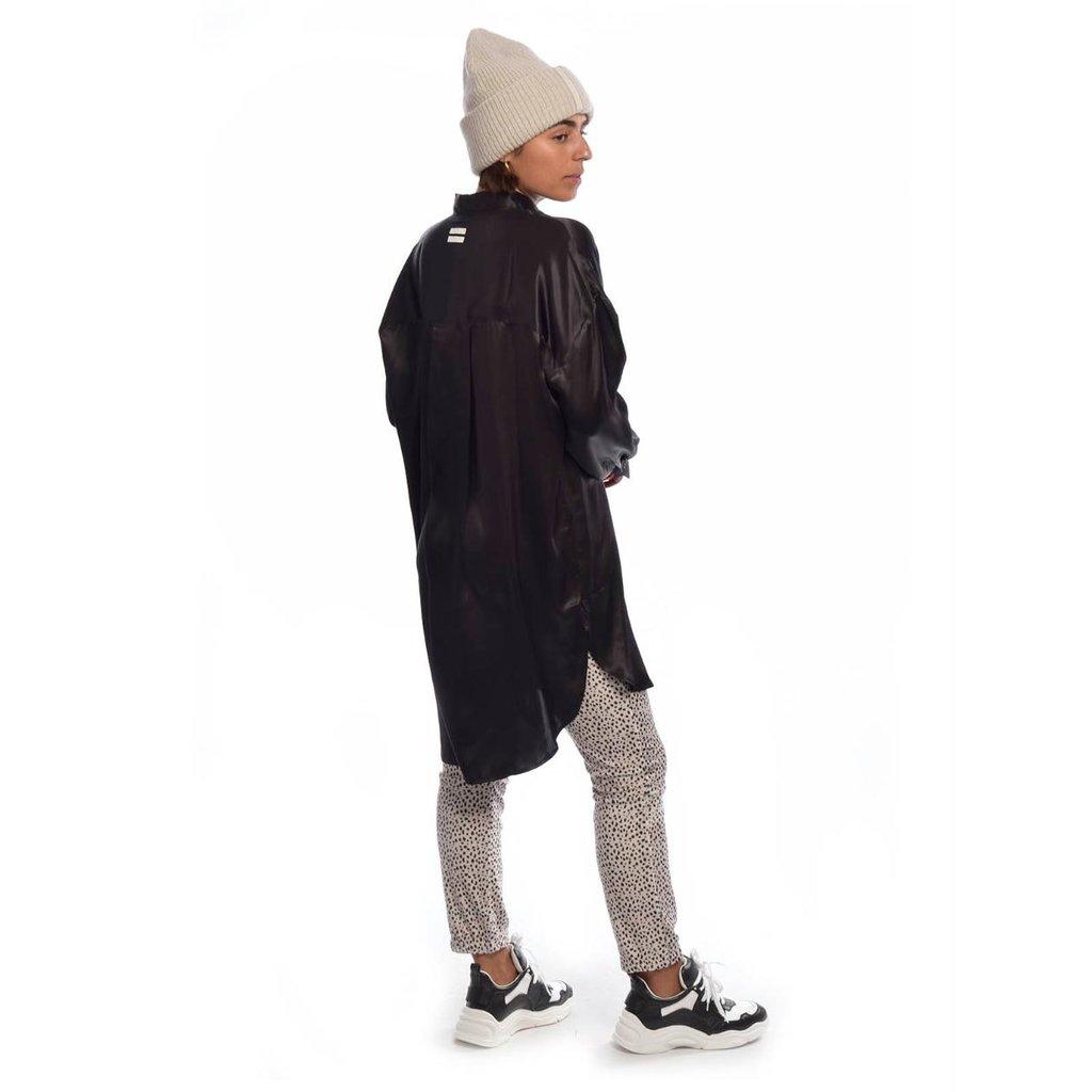 10Days Black tunic dress silk 20-405-0203