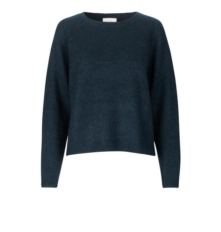Second Female Second Female Navy Blue Brooke New Loose Knit 52509