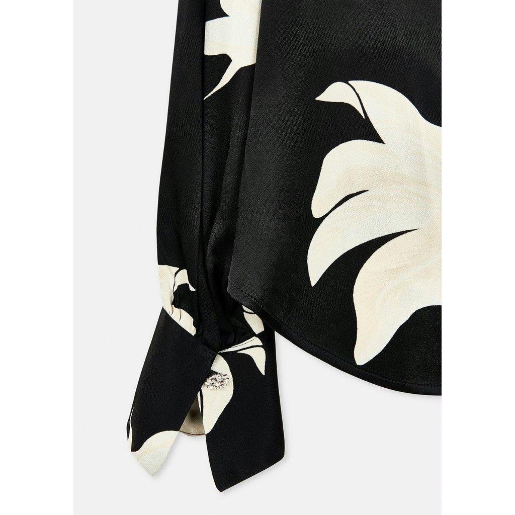 Essentiel Antwerp Black/Off White Blouse Wadam