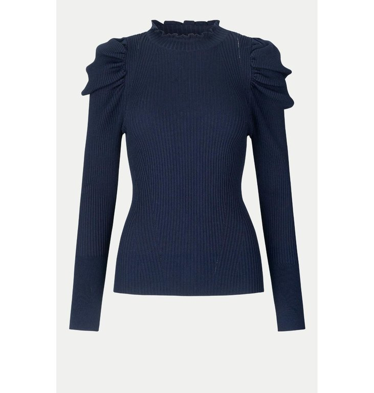 Second Female Second Female Navy Blue Canilla Knit 53865