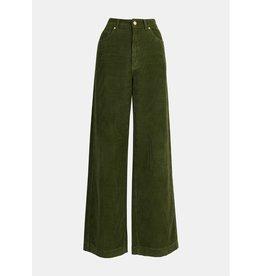 Essentiel Antwerp Essentiel Antwerp Green Ribbed Pants Whipped