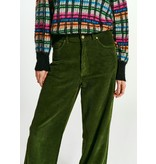 Essentiel Antwerp Green Ribbed Pants Whipped