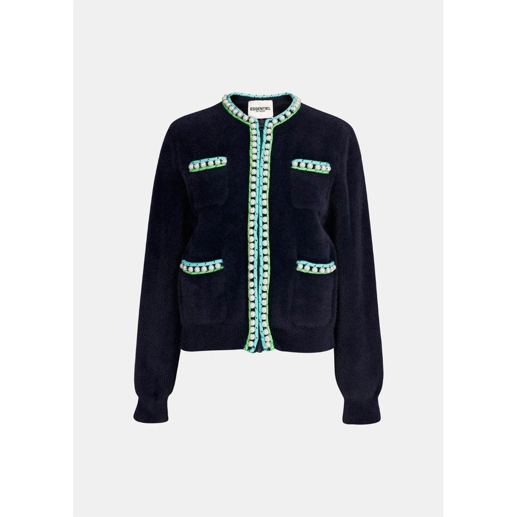 Essentiel Antwerp Blue Vest Wirl