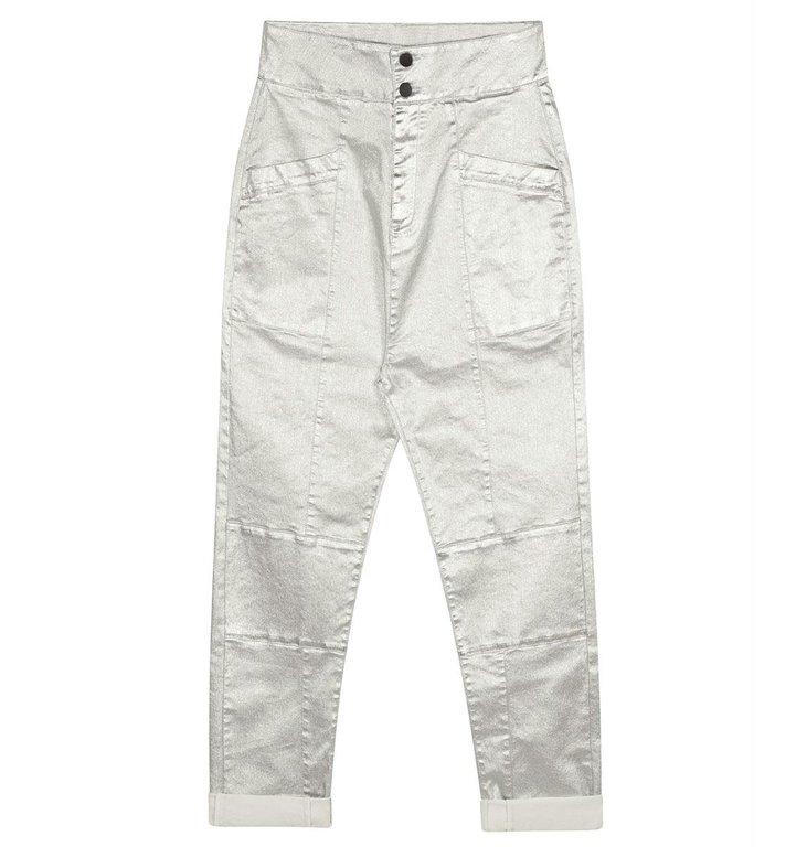10Days 10Days Silver high waist denim metallic 20-061-0204