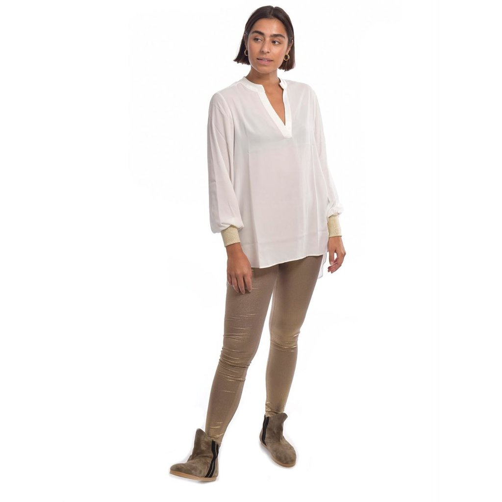 10Days Ecru flowy blouse 20-401-0204
