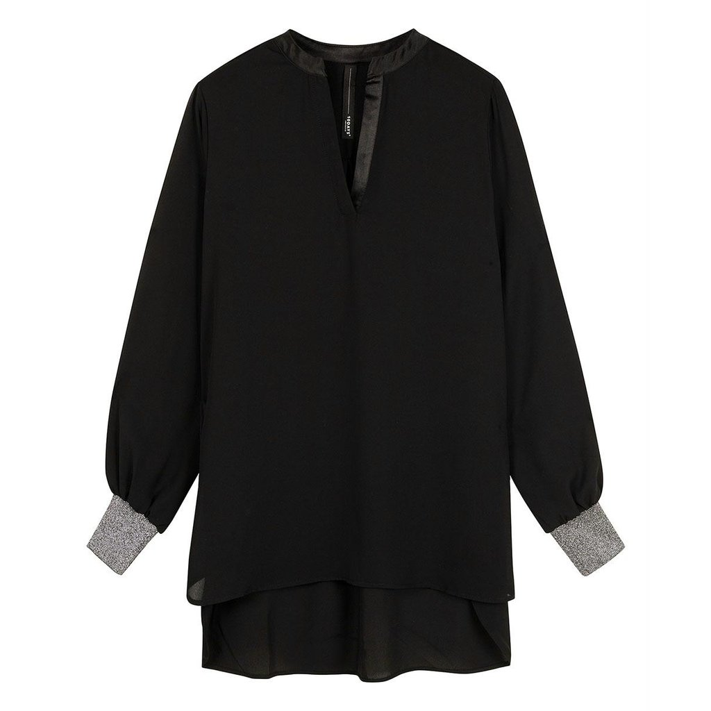 10Days Black flowy blouse 20-401-0204