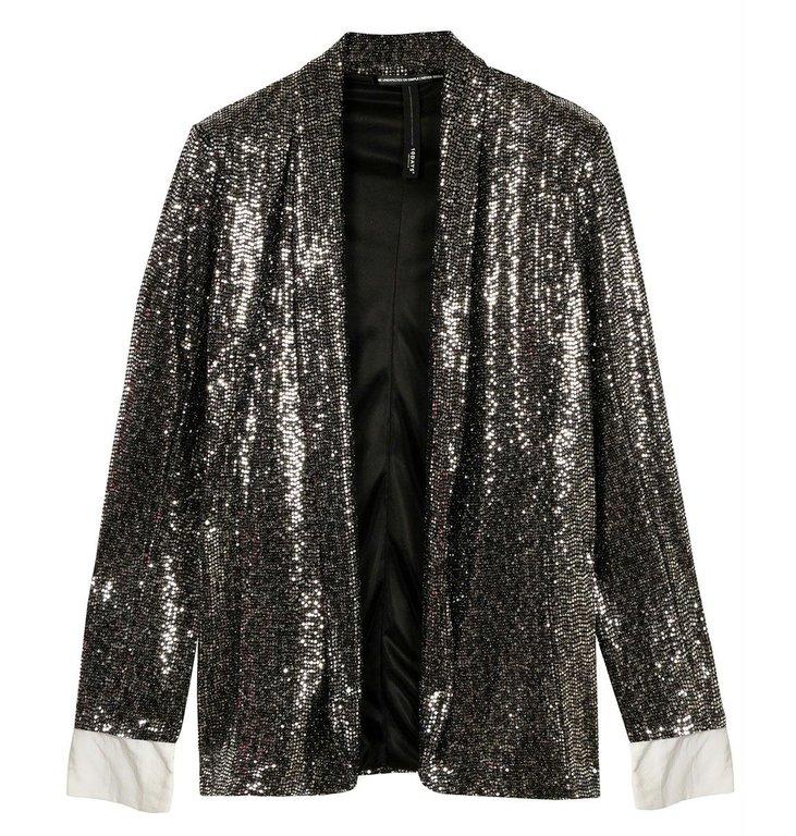 10Days 10Days Silver sequin blazer 20-508-0204