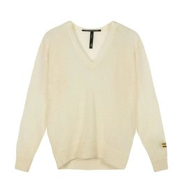 10Days 10Days Off White thin sweater v-neck 20-605-0204