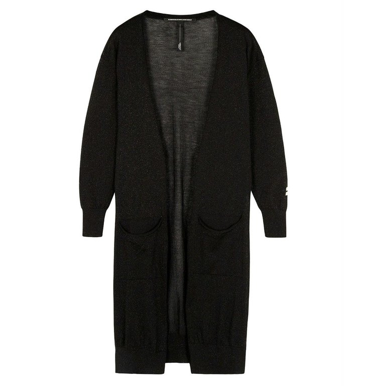 10Days 10Days Black cardigan lurex 20-651-0204