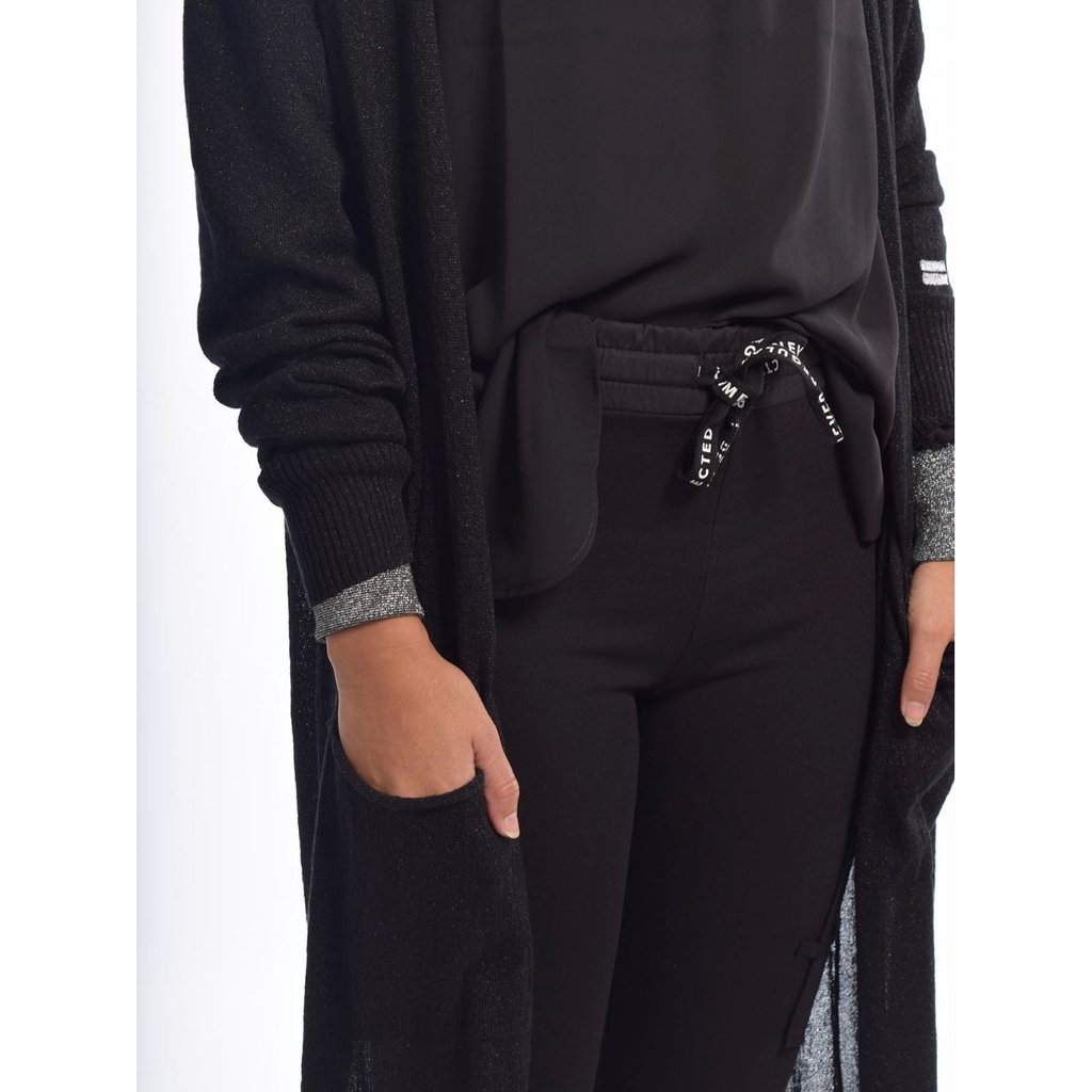 10Days Black cardigan lurex 20-651-0204