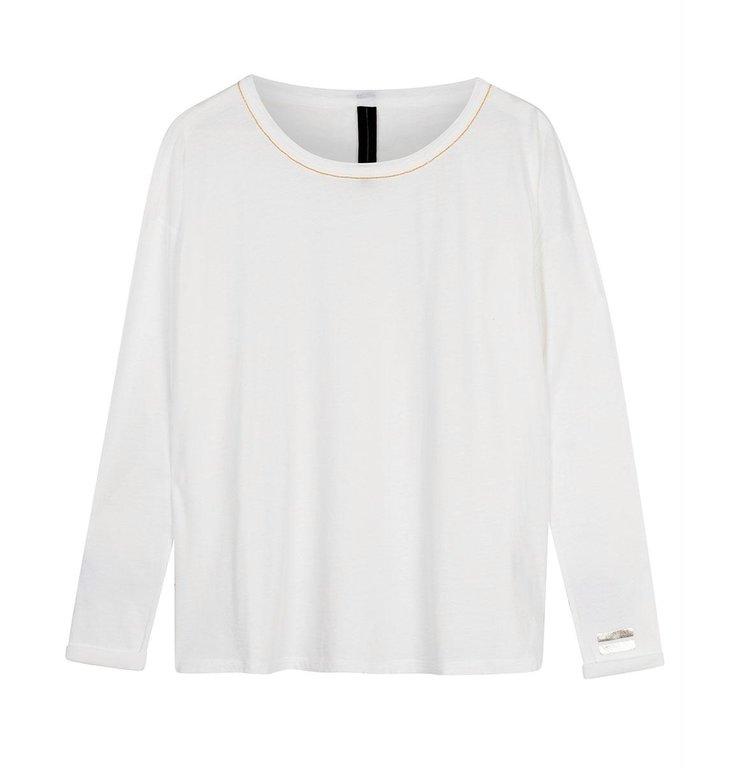 10Days 10Days White organic cotton longsleeve 20-771-0204