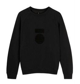 10Days 10Days Black sweater terry 20-804-0204