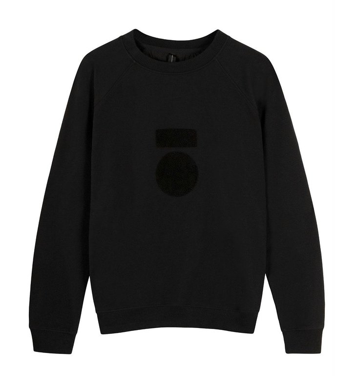 10Days 10Days Black sweater terry 20-804-0204