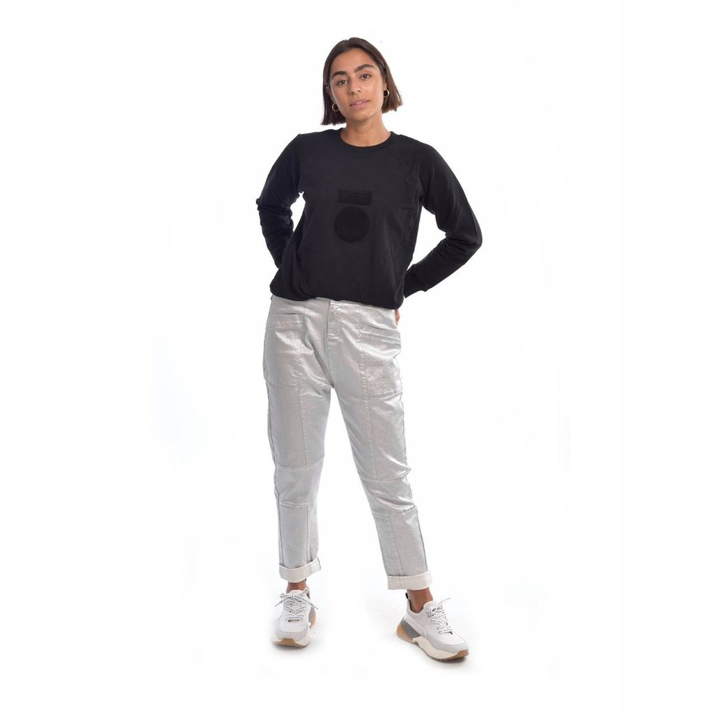 10Days Black sweater terry 20-804-0204