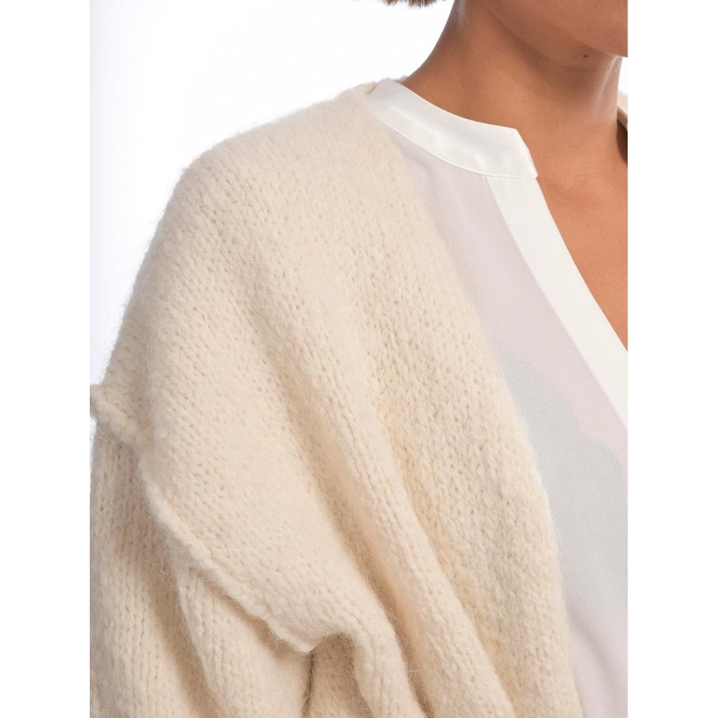 10Days Winter White short cardigan 20-650-0204