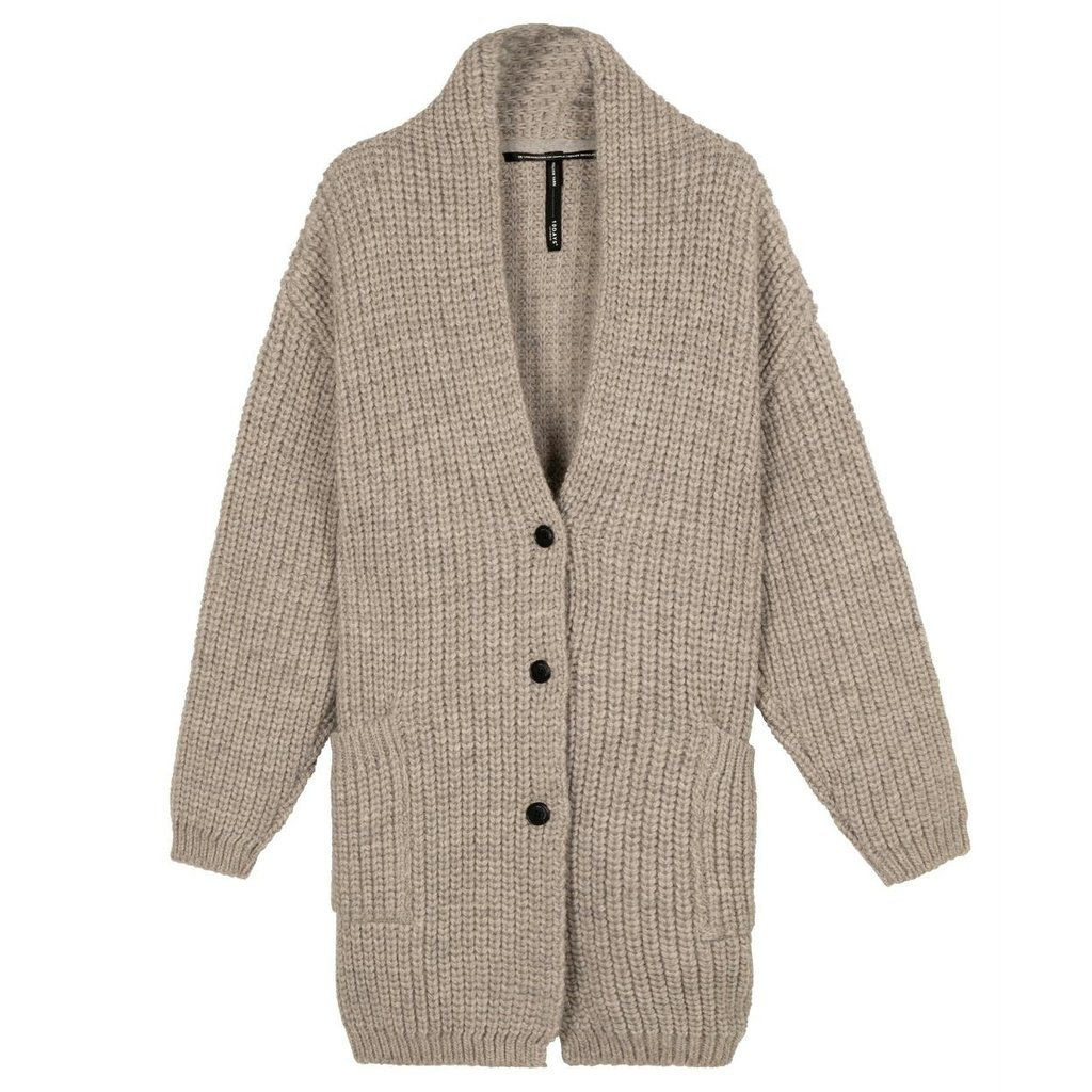 10Days Grey Melee big cardigan 20-652-0204