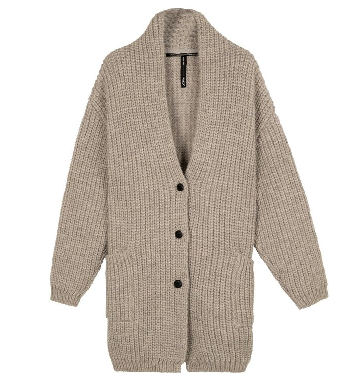 10Days 10Days Grey Melee big cardigan 20-652-0204