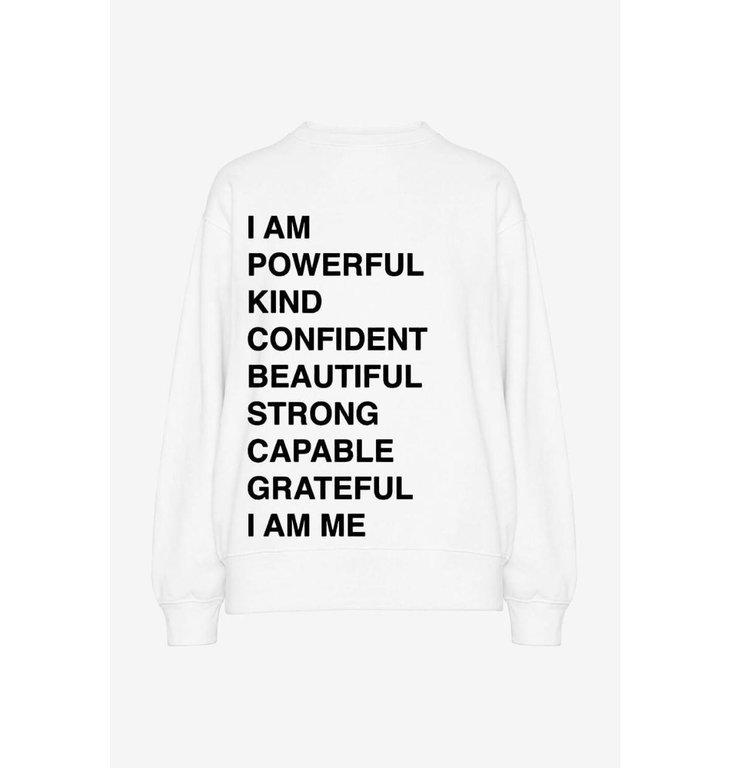 Anine Bing Anine Bing White Ramona Sweatshirt Empowerment #A-08-5055-109