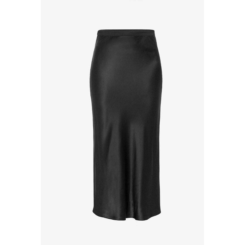 Anine Bing Black Bar Silk Skirt #A-04-4001-000