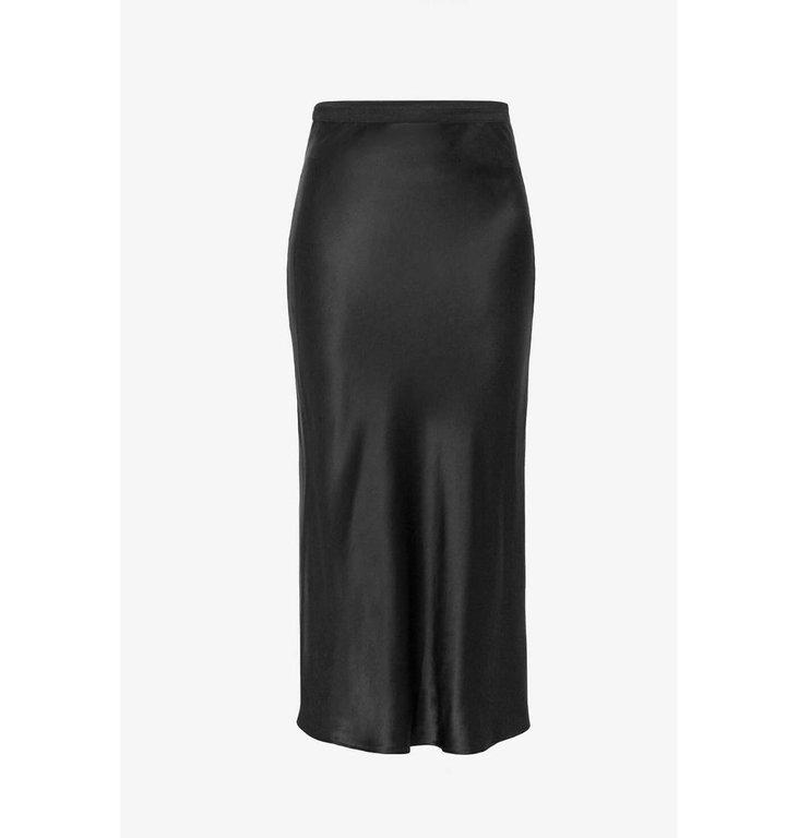 Anine Bing Anine Bing Black Bar Silk Skirt #A-04-4001-000