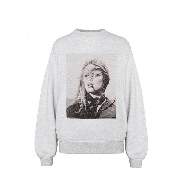 Anine Bing Anine Bing Grey Ramona Sweatshirt Ab X To #A-08-5055-039