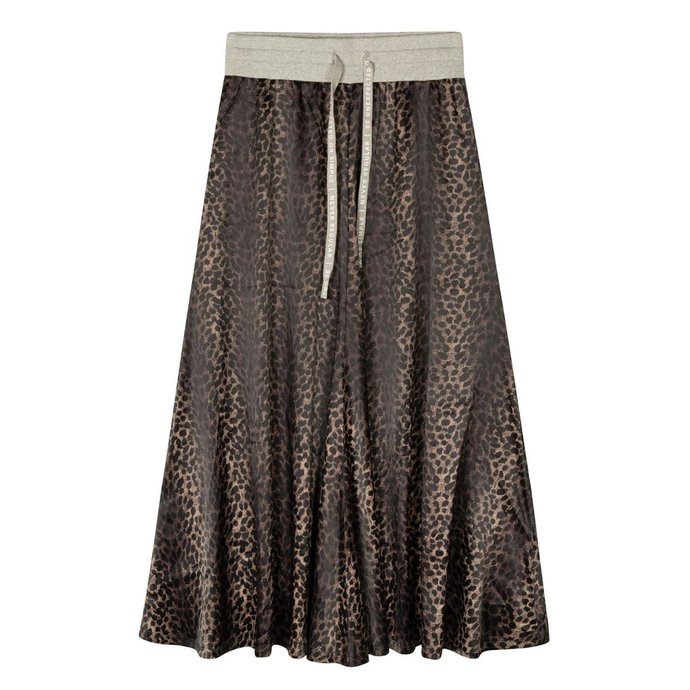 10Days Taupe skirt leopard camo 20-104-1201