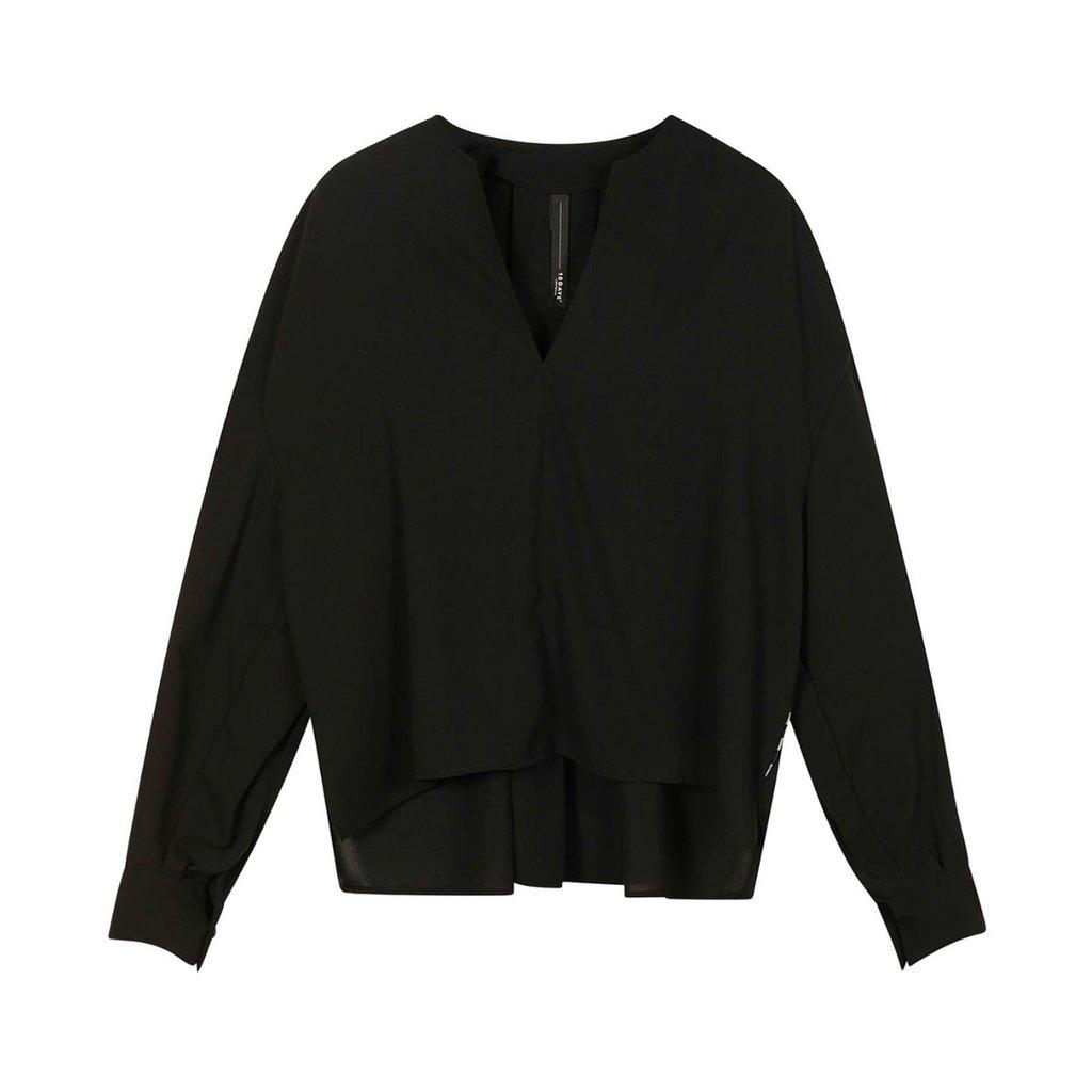 10Days Black blouse flowy 20-403-1201