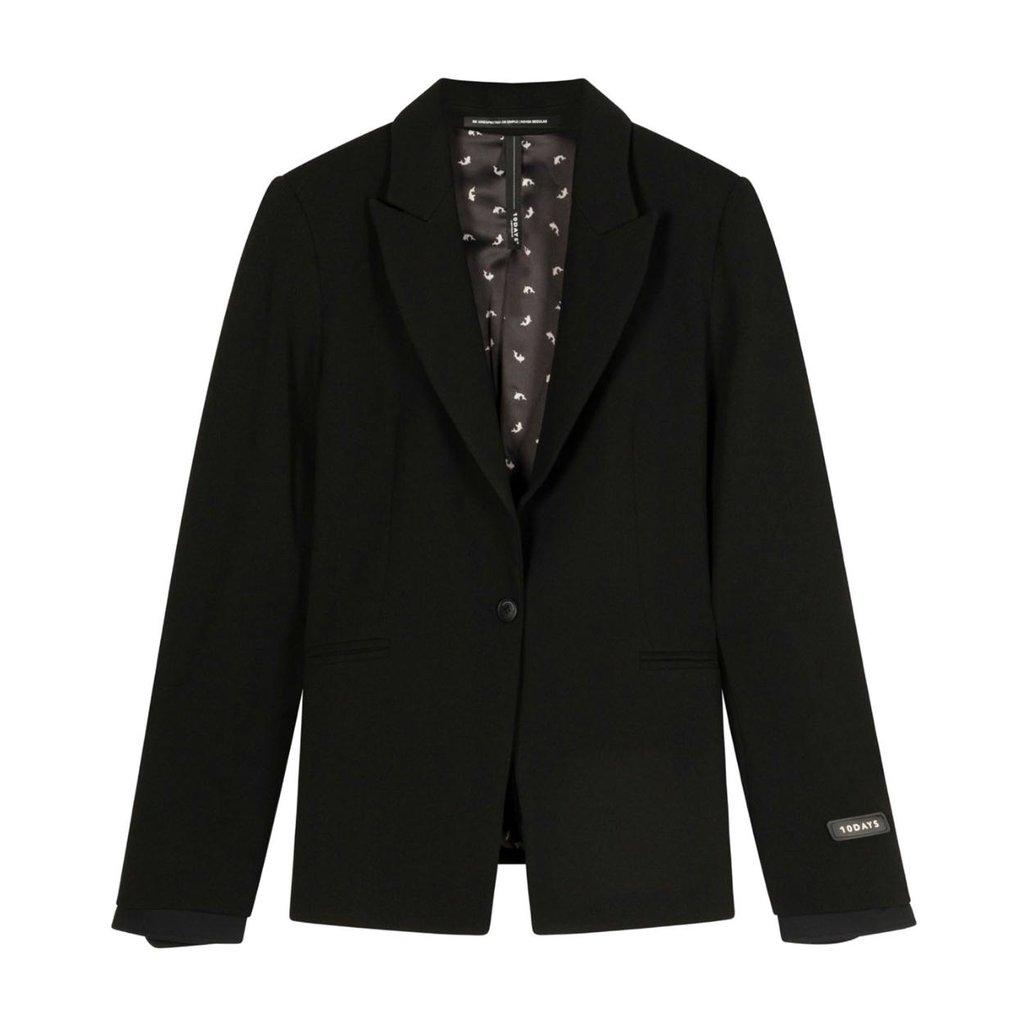 10Days Black blazer stretch crepe 20-500-1201