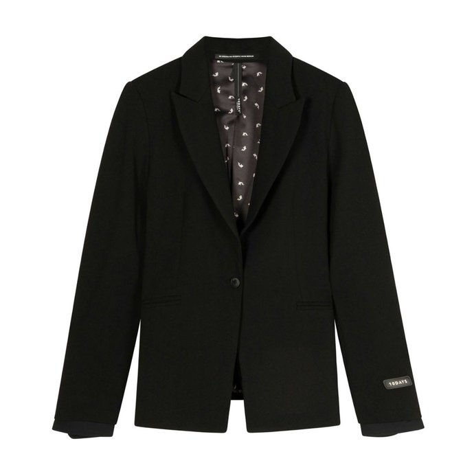 10Days Black blazer stretch crepe 20-500-1201