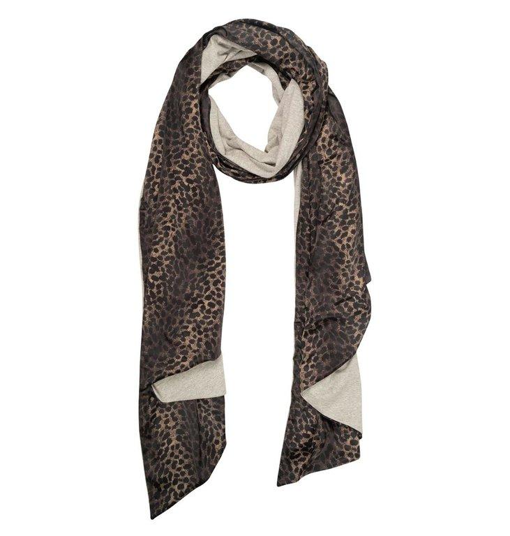 10Days 10Days Taupe scarf leopard camo 20-906-1201